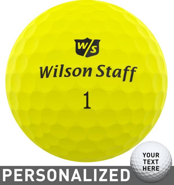 Wilson Staff Duo Soft Optix Yellow Personalized Golf Balls product image