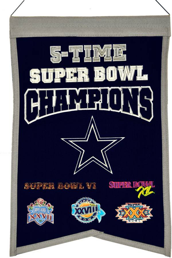 Winning Streak Dallas Cowboys 5 Time Super Bowl Champions Banner product image