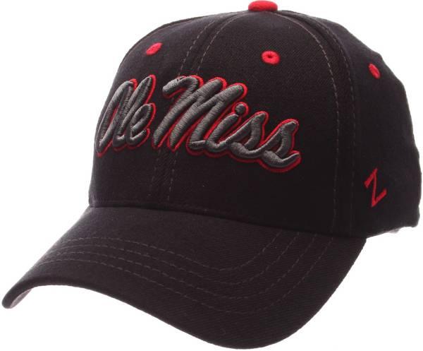 Zephyr Men's Ole Miss Rebels Black Element ZClassic Flexfit Hat product image