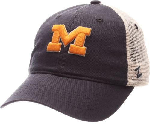 release date 057e2 a2d2a Zephyr Men s Michigan Wolverines Blue White University Adjustable Hat.  noImageFound. Previous