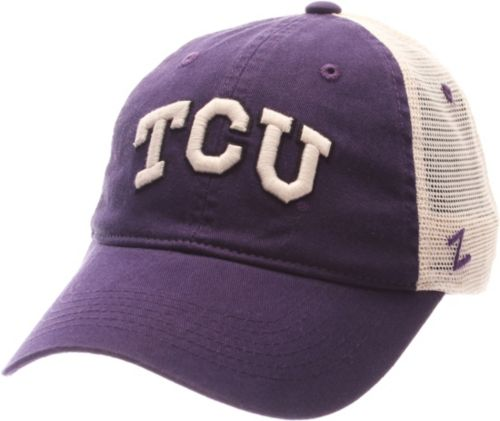 competitive price 332c1 e052c 38647 f69a1  where can i buy zephyr mens tcu horned frogs purple white  university adjustable hat a4640 9a502