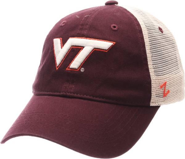 Zephyr Men's Virginia Tech Hokies Maroon/White University Adjustable Hat product image