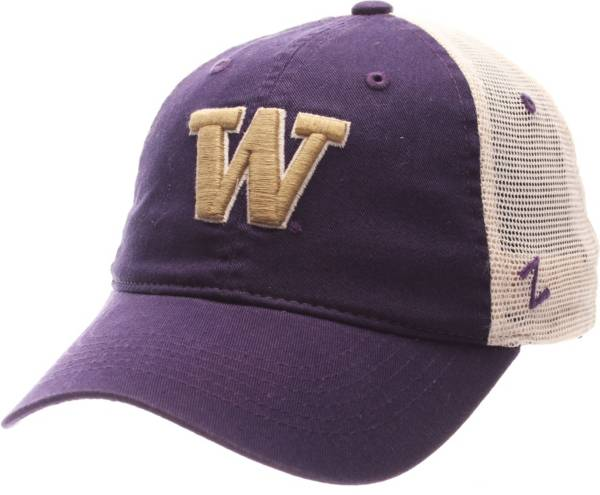 Zephyr Men's Washington Huskies Purple/Cream Mesh Trucker Snapback Hat product image