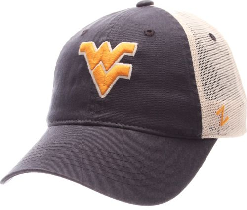 335fbd4b Zephyr Men's West Virginia Mountaineers Blue/White University Adjustable Hat.  noImageFound. Previous