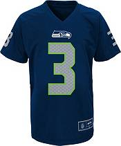 NFL Team Apparel Youth Seattle Seahawks Russell Wilson #3 Navy T-Shirt product image