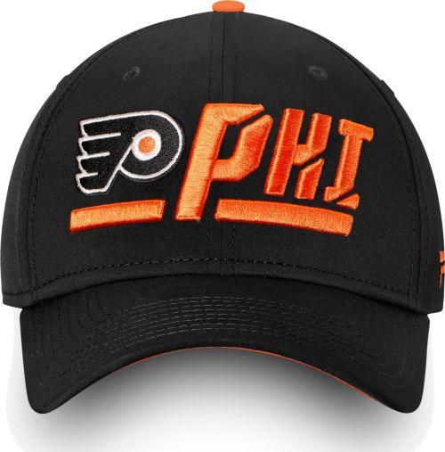 NHL Men s Philadelphia Flyers Authentic Pro Rinkside Alpha Black Adjustable  Hat 3c958771dcf5