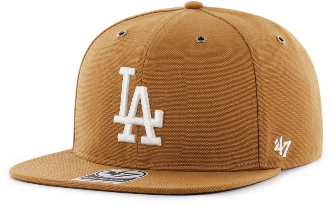 8698ef764 '47 Men's Los Angeles Dodgers Carhartt Captain Brown Adjustable Snapback Hat