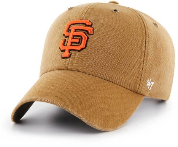 '47 Men's San Francisco Giants Carhartt Clean Up Brown Adjustable Hat product image