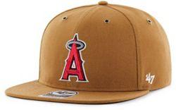 42797702176ec4 '47 Men's Los Angeles Angels Carhartt Captain Brown Adjustable Snapback Hat  alternate 0. '