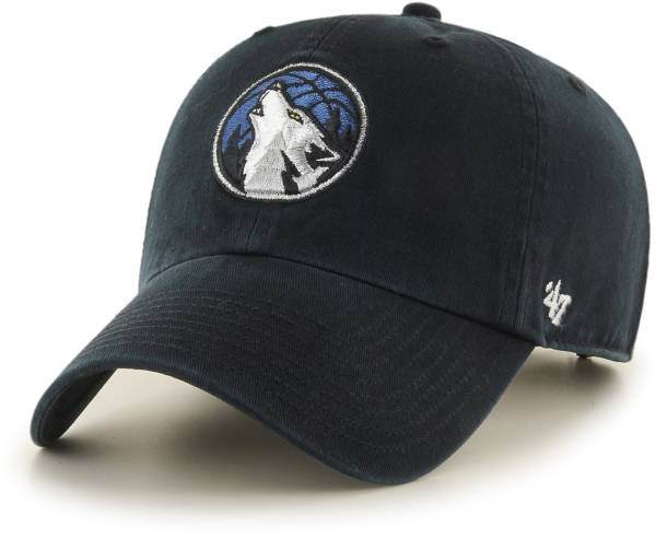 '47 Men's Minnesota Timberwolves Black Clean Up Adjustable Hat product image