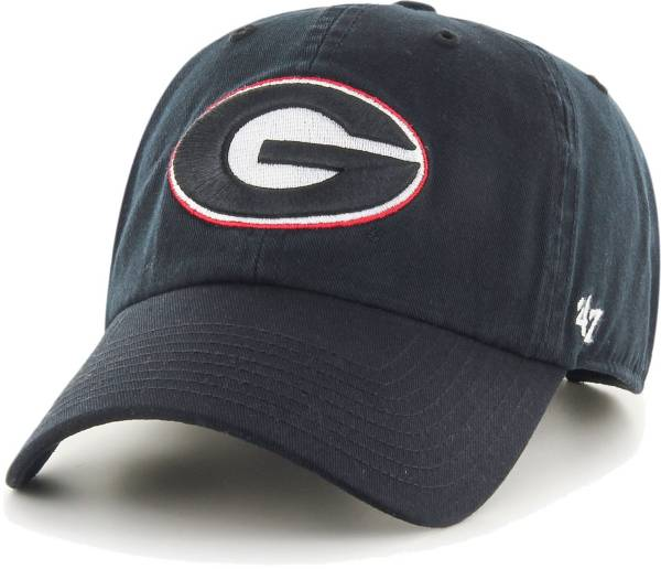 '47 Men's Georgia Bulldogs Clean Up Adjustable Black Hat product image