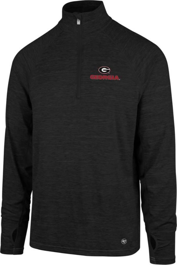 '47 Men's Georgia Bulldogs Forward Microlite Quarter-Zip Black Shirt product image