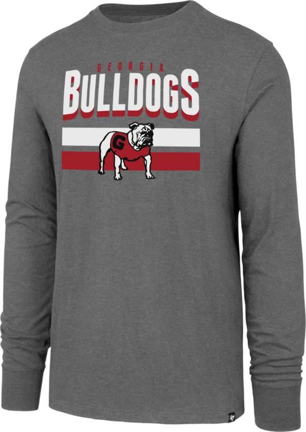 '47 Men's Georgia Bulldogs Grey Club Long Sleeve T-Shirt product image