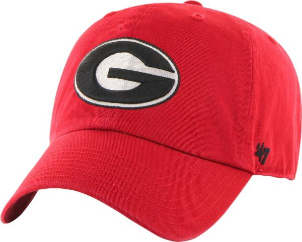 '47 Men's Georgia Bulldogs Red Clean Up Adjustable Hat product image