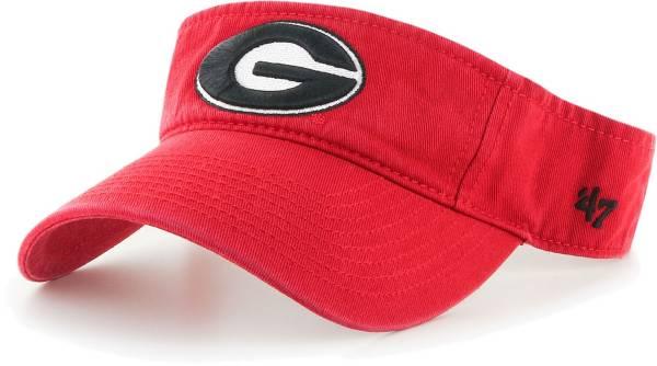 '47 Men's Georgia Bulldogs Red Clean Up Adjustable Visor product image