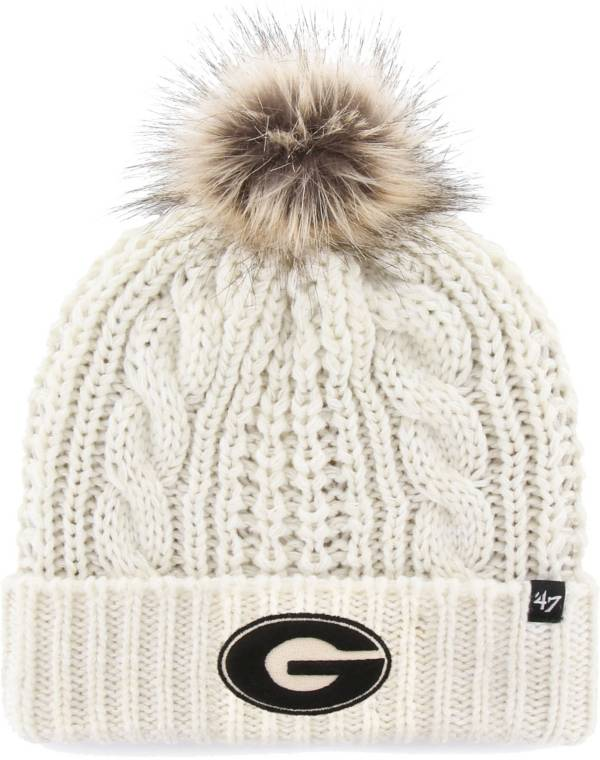'47 Women's Georgia Bulldogs Meeko Cuffed Knit White Hat product image