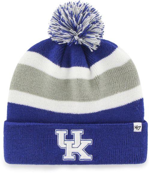 9bf54dbd496 47 Men s Kentucky Wildcats Blue Grey Breakaway Cuffed Knit Beanie ...