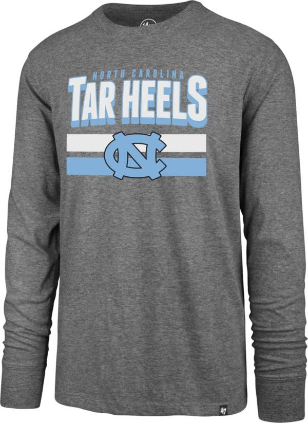 '47 Men's North Carolina Tar Heels Grey Club Long Sleeve T-Shirt product image