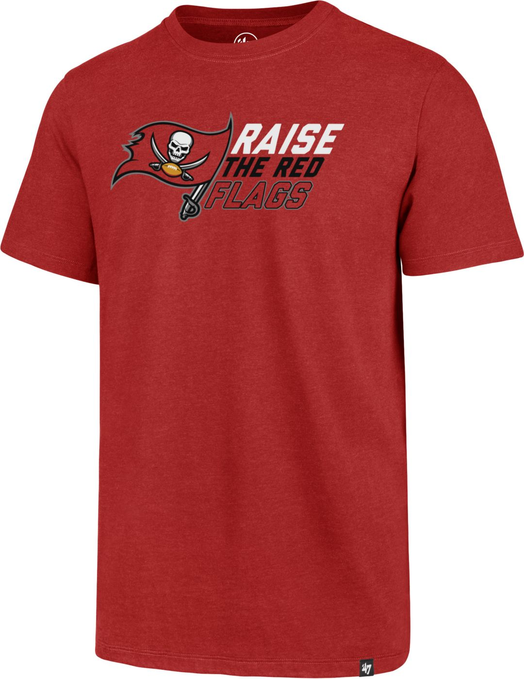 47 Men's Tampa Bay Buccaneers Raise the Flag Red T Shirt | DICK'S  for cheap