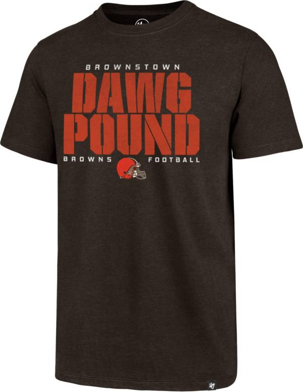 '47 Men's Cleveland Browns Dawg Pound Club Brown T-Shirt product image