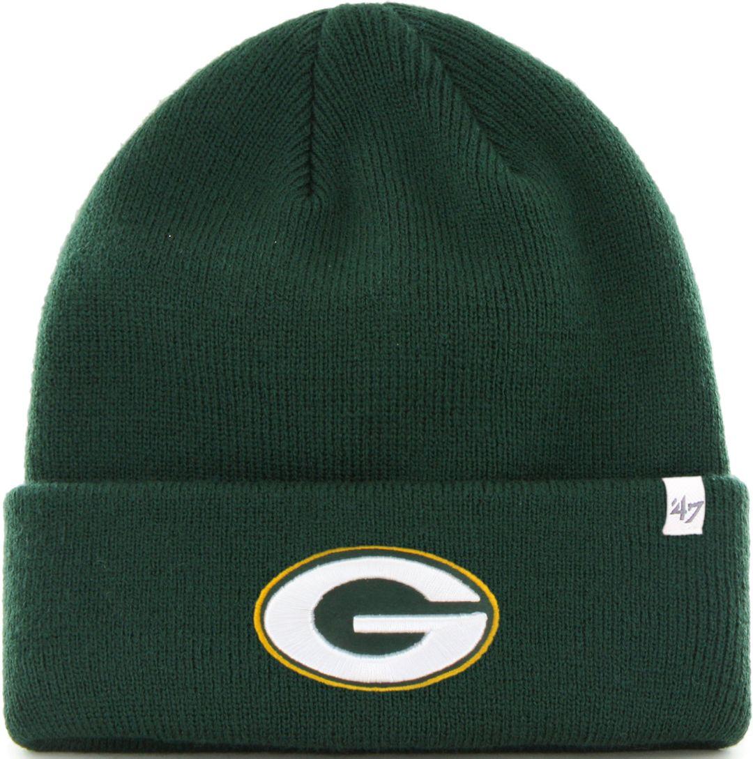 93e8d909 '47 Men's Green Bay Packers Basic Green Cuffed Knit Beanie