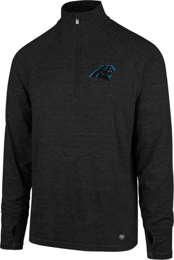 '47 Men's Carolina Panthers Forward Black Quarter-Zip Pullover product image