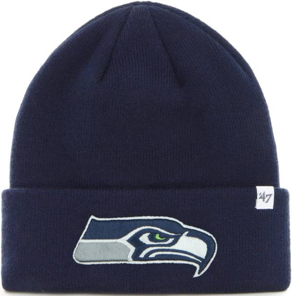 '47 Men's Seattle Seahawks Basic Navy Cuffed Knit Beanie product image