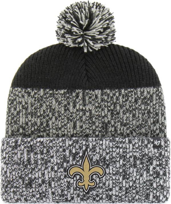 '47 Men's New Orleans Saints Static Cuffed Black Knit product image