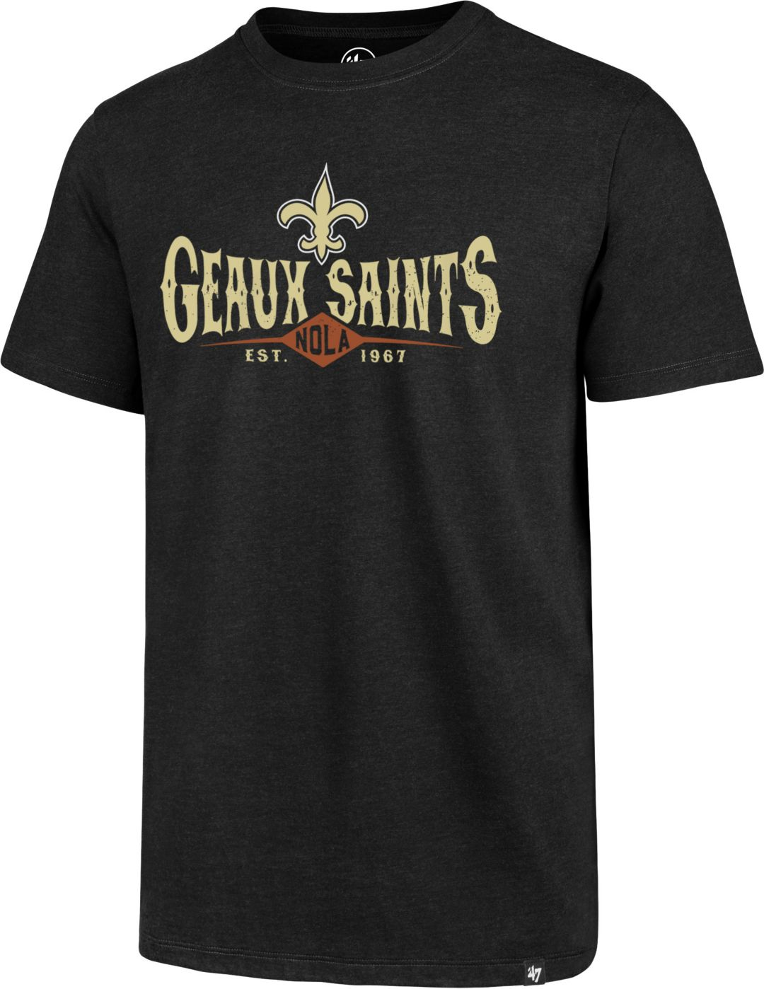 19d1e1fda '47 Men's New Orleans Saints Geaux Saints Black T-Shirt. noImageFound.  Previous