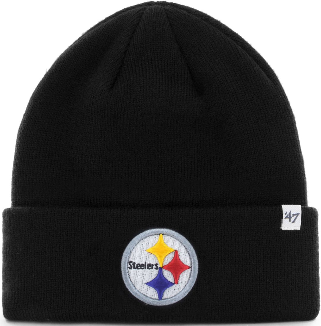1940896d '47 Men's Pittsburgh Steelers Basic Black Cuffed Knit Beanie