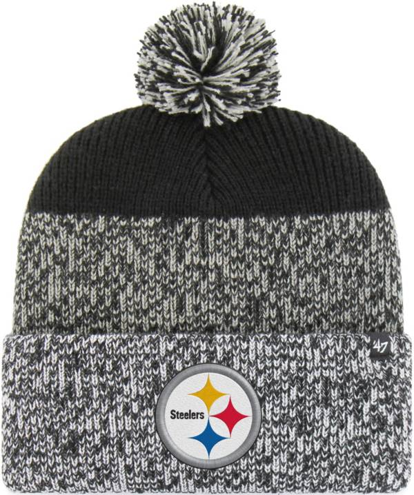 47 Men's Pittsburgh Steelers Static Cuffed Black Knit Hat product image