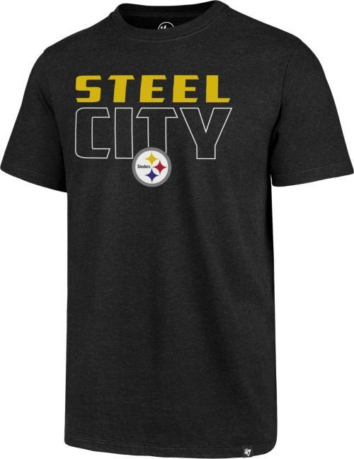 2af6baa53 47 Men's Pittsburgh Steelers Steel City Black T-Shirt   DICK'S ...