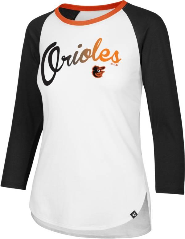 47 Women's Baltimore Orioles Raglan Three-Quarter Sleeve T-Shirt product image