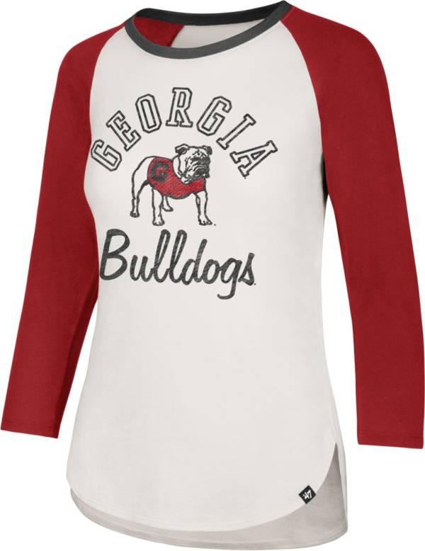 '47 Women's Georgia Bulldogs White/Red Three-Quarter Sleeve Club T-Shirt product image