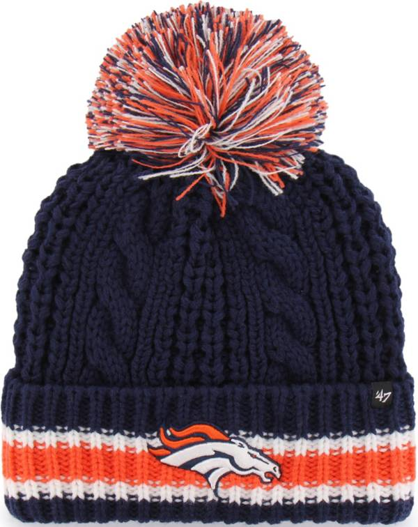 '47 Women's Denver Broncos Sorority Navy Cuffed Pom Knit Hat product image