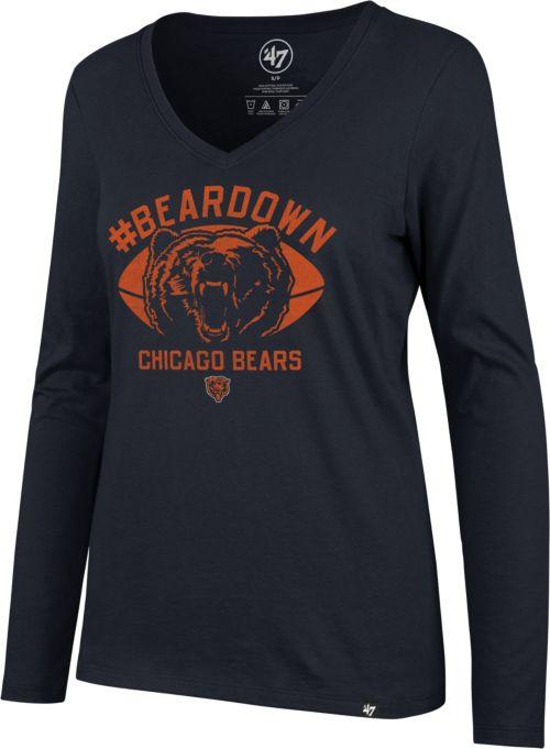 5d50b24a40d 47 Women s Chicago Bears Beardown Splitter Navy Long Sleeve Shirt ...