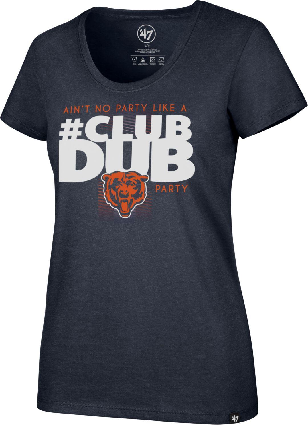 Top 47 Women's Chicago Bears Club Dub Navy T Shirt | DICK'S Sporting Goods