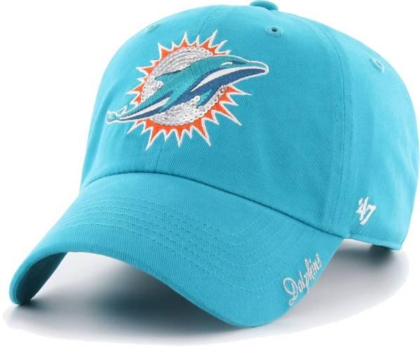 '47 Women's Miami Dolphins Sparkle Logo Aqua Adjustable Hat product image