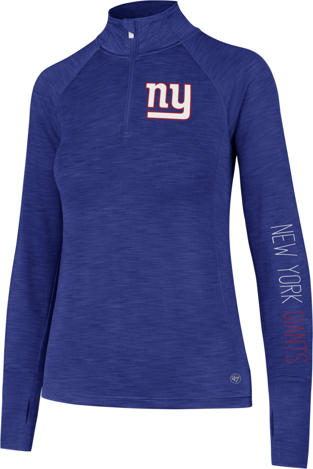 a8db6d41 '47 Women's New York Giants Shade Royal Quarter-Zip Pullover