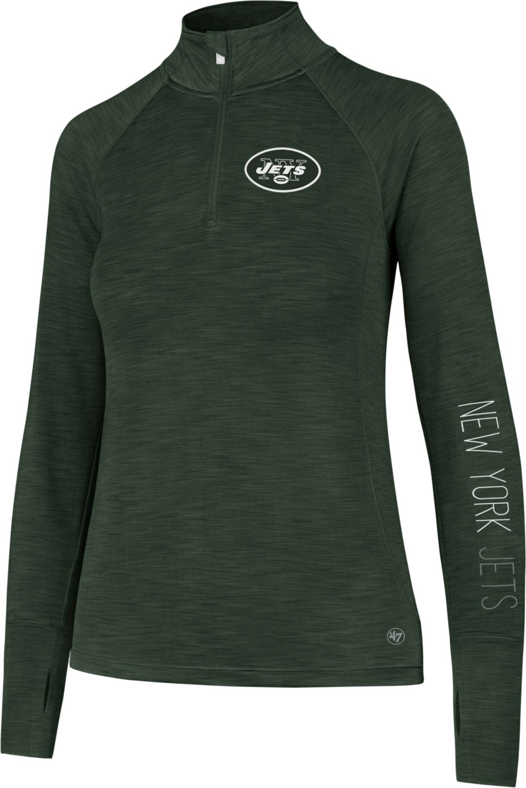 de5b0935 '47 Women's New York Jets Shade Green Quarter-Zip Pullover