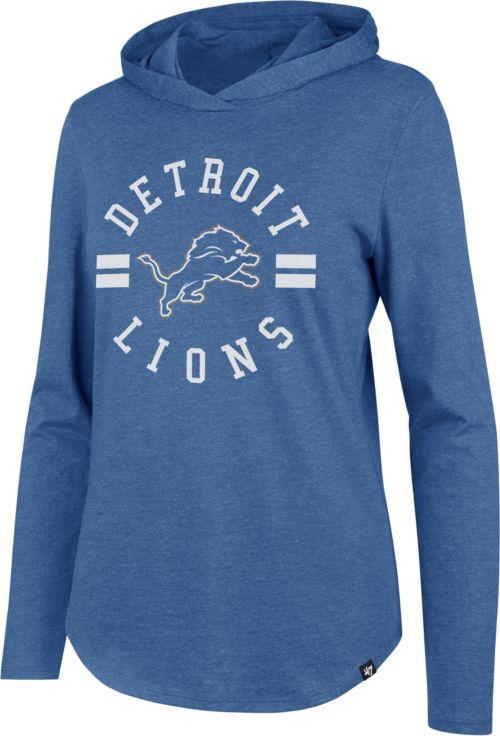 47 Women s Detroit Lions Club Blue Hooded Long Sleeve Shirt. noImageFound.  Previous 57f51811a