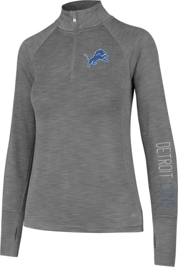 '47 Women's Detroit Lions Shade Grey Quarter-Zip Pullover product image