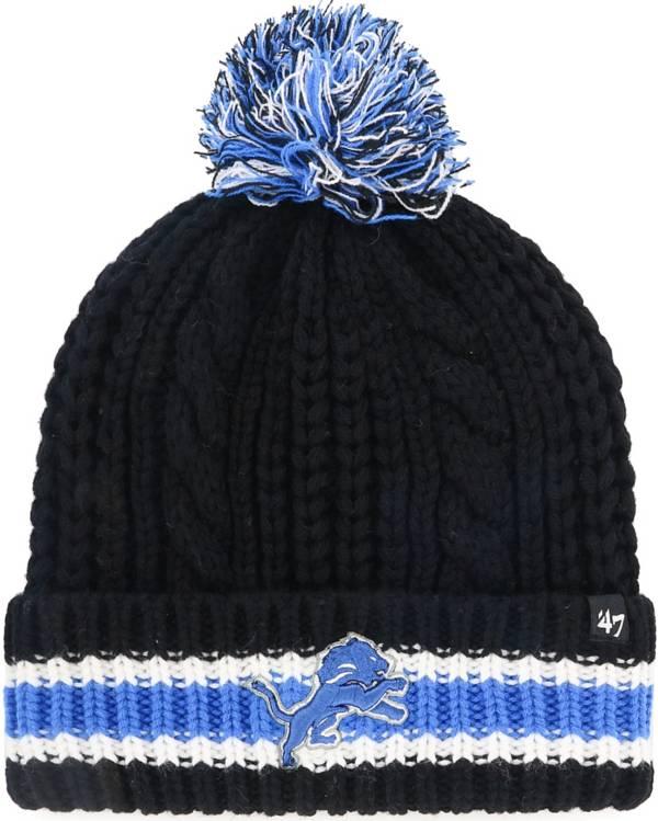 '47 Women's Detroit Lions Sorority Black Cuffed Pom Knit Hat product image