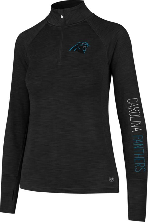 '47 Women's Carolina Panthers Shade Black Quarter-Zip Pullover product image