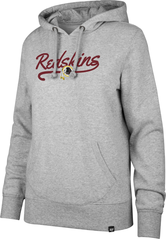 best loved 1e32a 09ade '47 Women's Washington Redskins Headline Grey Hoodie