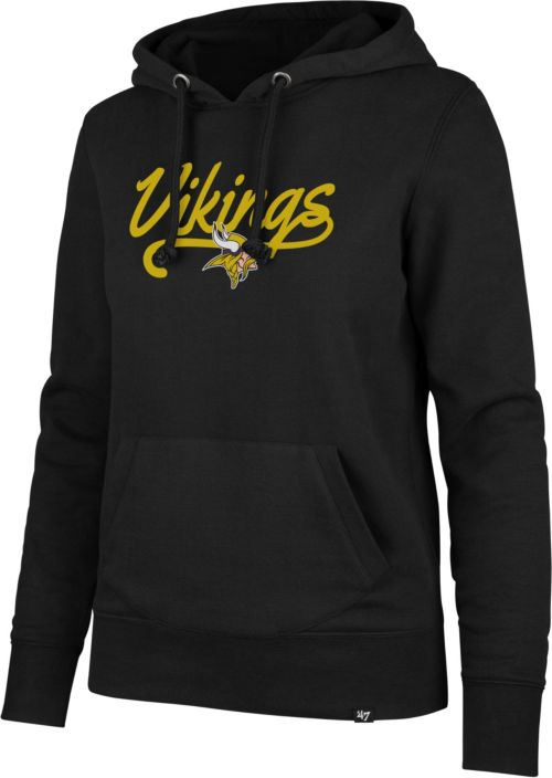 newest 62812 24f7c '47 Women's Minnesota Vikings Headline Grey Hoodie