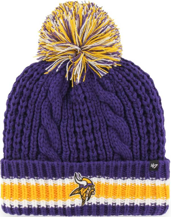 '47 Women's Minesota Vikings Sorority Purple Cuffed Pom Knit product image