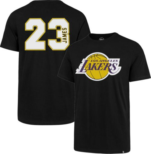 56d70b9d '47 Men's Los Angeles Lakers LeBron James #23 Black T-Shirt | DICK'S  Sporting Goods
