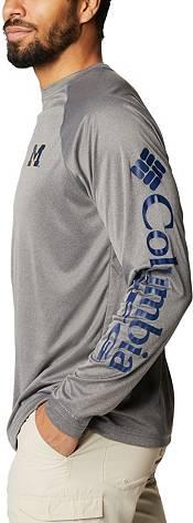 Columbia Men's Michigan Wolverines Terminal Tackle Grey T-Shirt product image