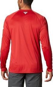 Columbia Men's Ohio State Buckeyes Scarlet Terminal Tackle Long Sleeve T-Shirt product image